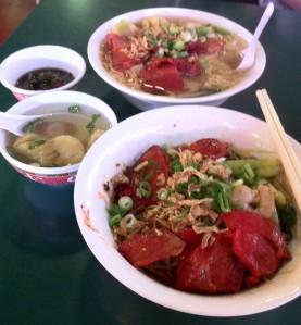 Shanghai Food Court - Taste of Asia - Wanton Noodle Soup.