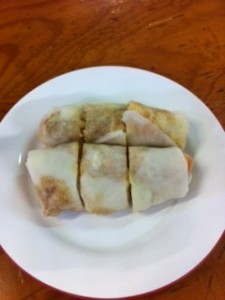 Spencer Village Singapore style roll.