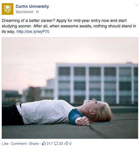 Curtin University Facebook post