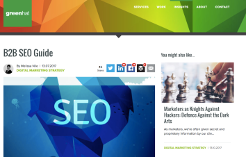 B2B SEO Guide for Green Hat